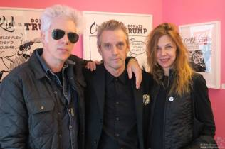 Jim Jarmusch, Kosmo Vinyl, & Sara Driver - Photo by Bob Gruen