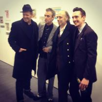 Kosmo Vinyl with Paul Simonon, Mick Jones, and Robin Mann