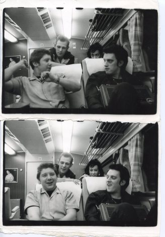 Paul Simonon, Pearl Harbour, The Baker, and Kosmo Vinyl (Bullet Train, Japan) - © Pennie Smith
